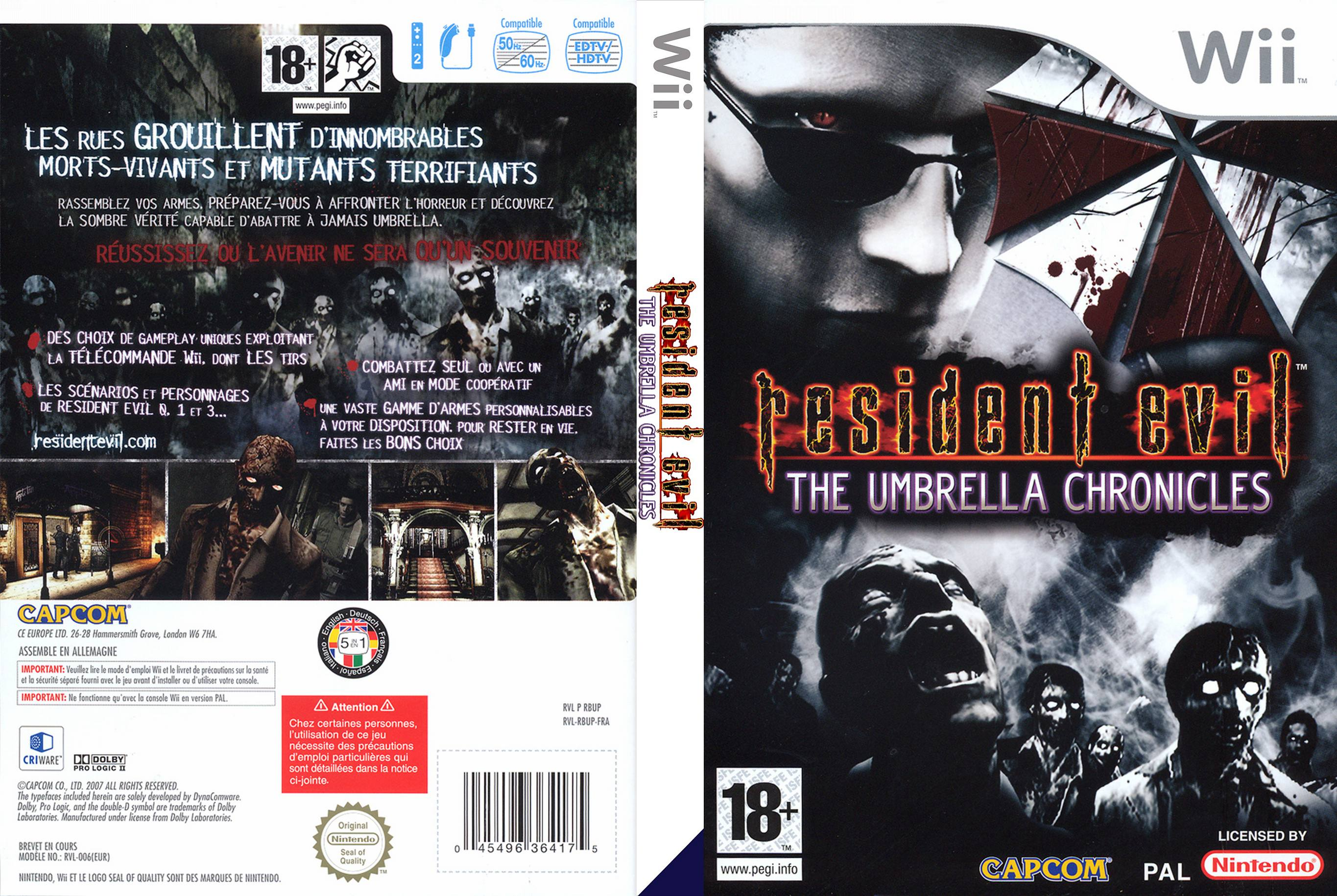Resident Evil: The Umbrella Chronicles for Wii (2007) - MobyGames
