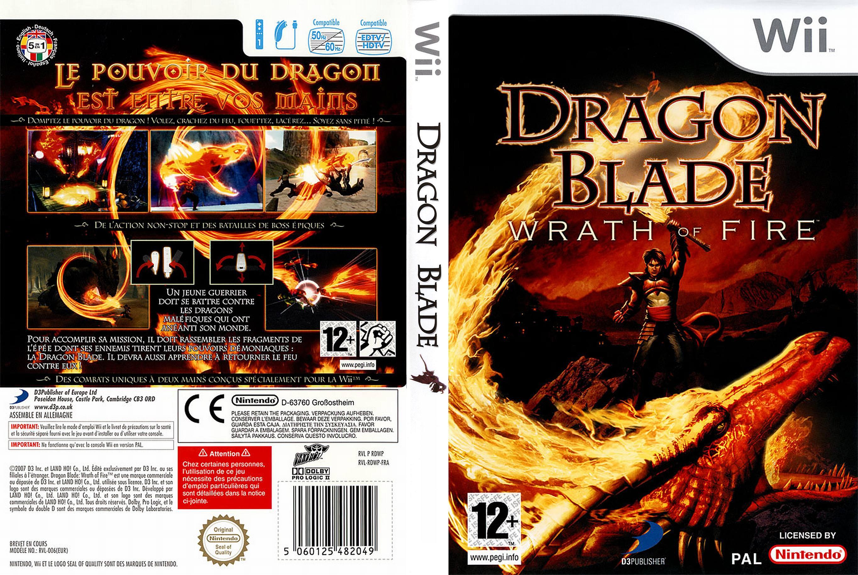 dégaine - jaquette jeux wii - dragon blade wrath of fire