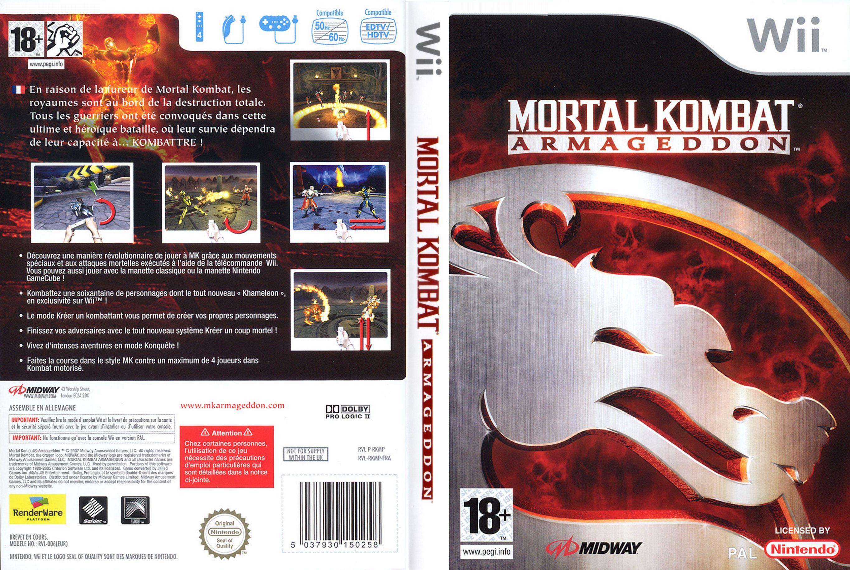 Jaquette jeux wii - Mortal Kombat Armageddon